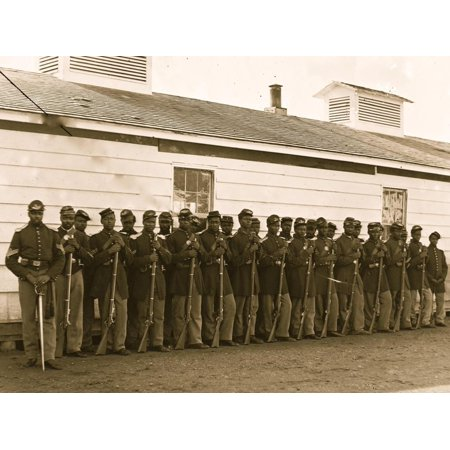 District of Columbia. Company E, 4th U.S. Colored Infantry, at Fort Lincoln Print Wall Art](District Halloween Lincoln)