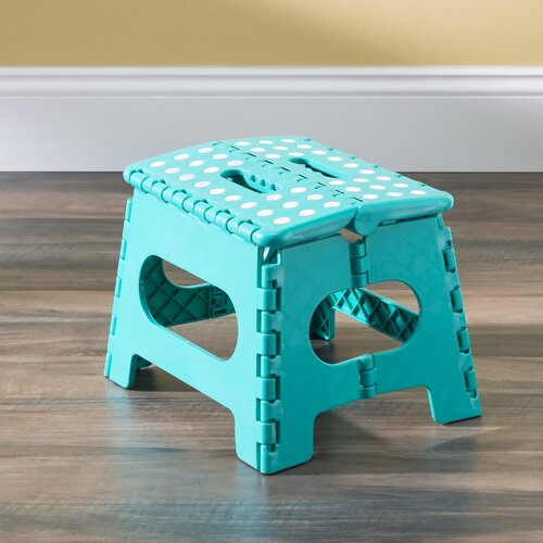 Home Basics 1-Step Plastic Folding Step Stool