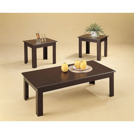 Coaster Furniture 3 Piece Wooden Coffee Table Set