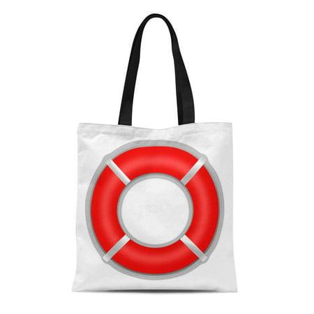 Custom Boat Bag - ASHLEIGH Canvas Tote Bag Boating Nautical Boat Life Saver Optional Custom Monogram Lifesaver Reusable Handbag Shoulder Grocery Shopping Bags