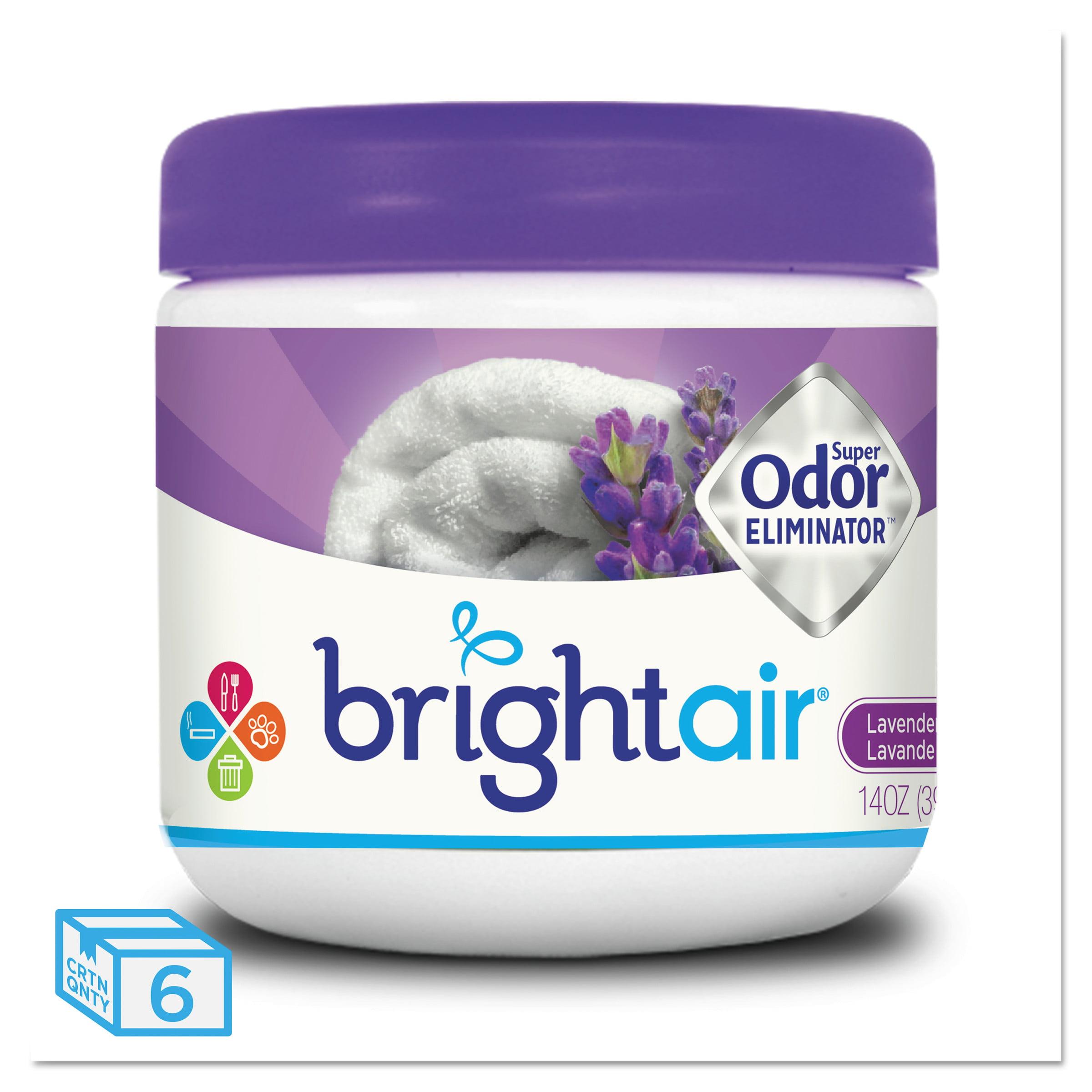 BRIGHT Air Super Odor Eliminator, Lavender and Fresh Linen, Purple, 14oz