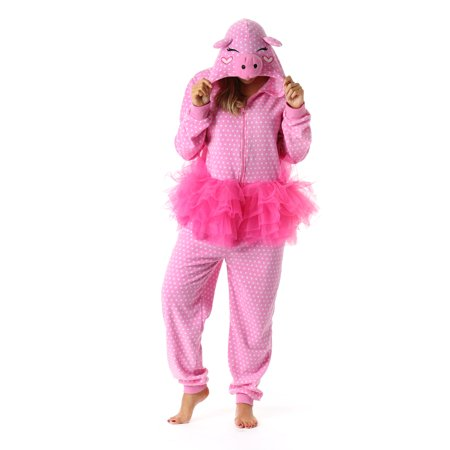 Just Love Pig in Tutu Adult Onesie Womens Pajamas - Care Bear Adult Onesie