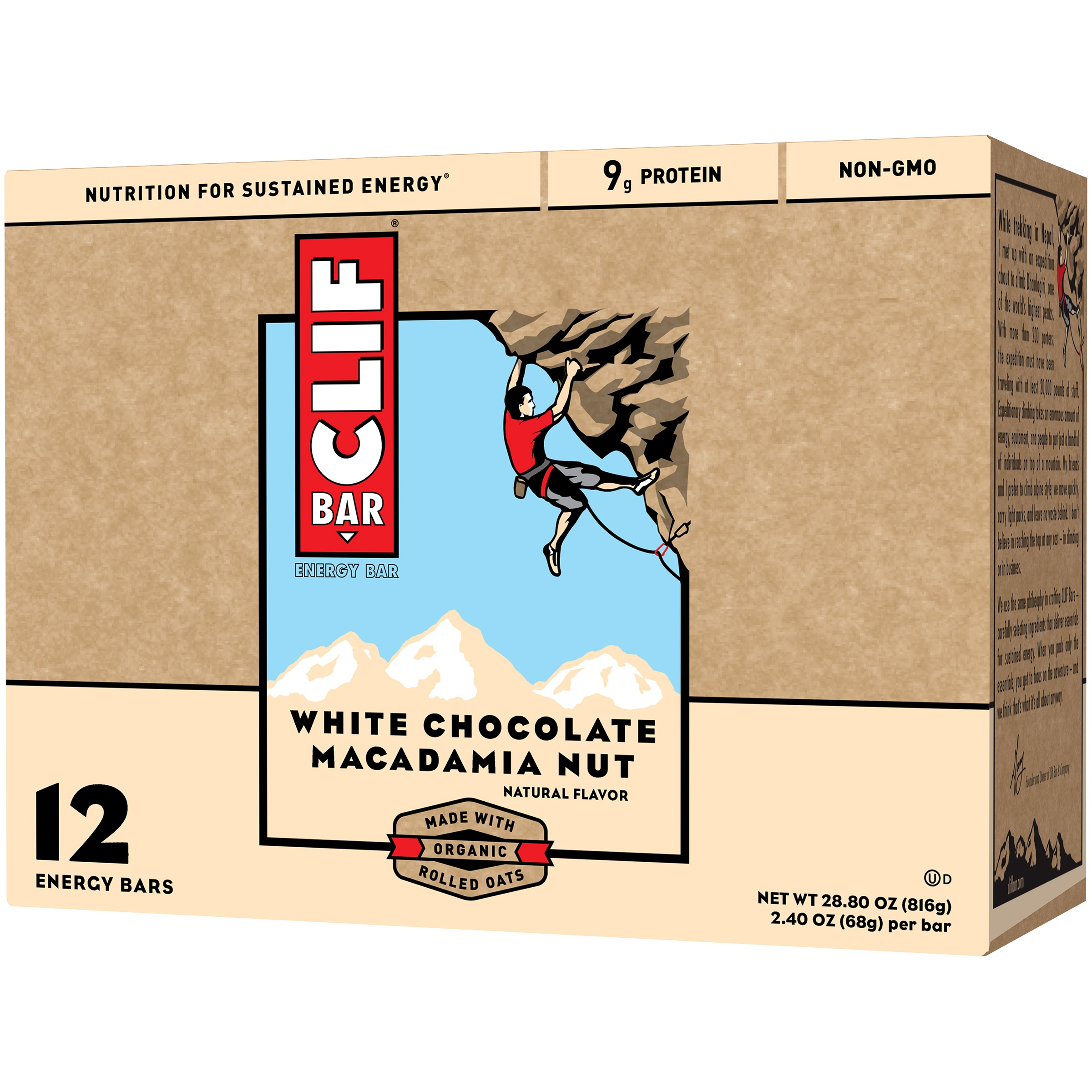 Clif Bar White Chocolate Macadamia Nut Energy Bars 12-2.4 oz. Box by Clif Bar & Company