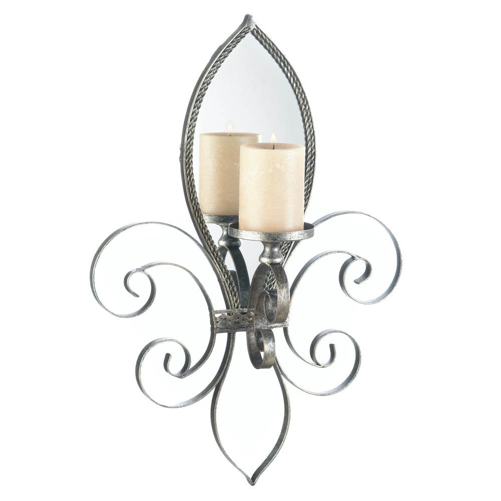 Candle Sconces Wall Decor Mirrored Indoor Decorative Candle Sconces