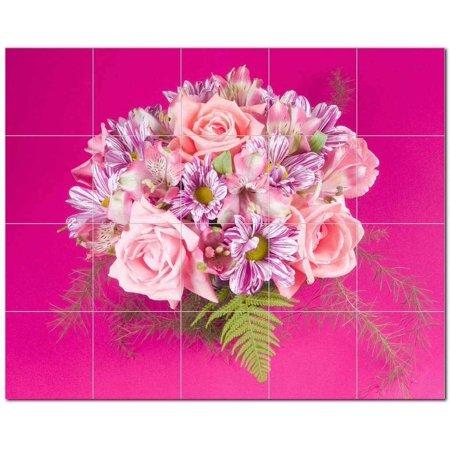 Flower Photo Ceramic Tile Mural Kitchen Backsplash Bathroom Shower 404