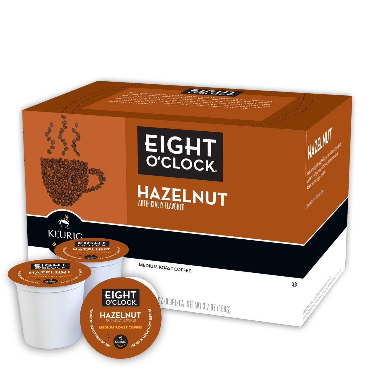 EIGHT O'CLOCK COFFEE 96 K CUPS OF HAZELNUT