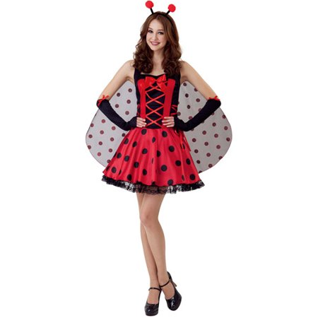 Lady Bug Adult Halloween Costume - Lady Bug Costume Adult