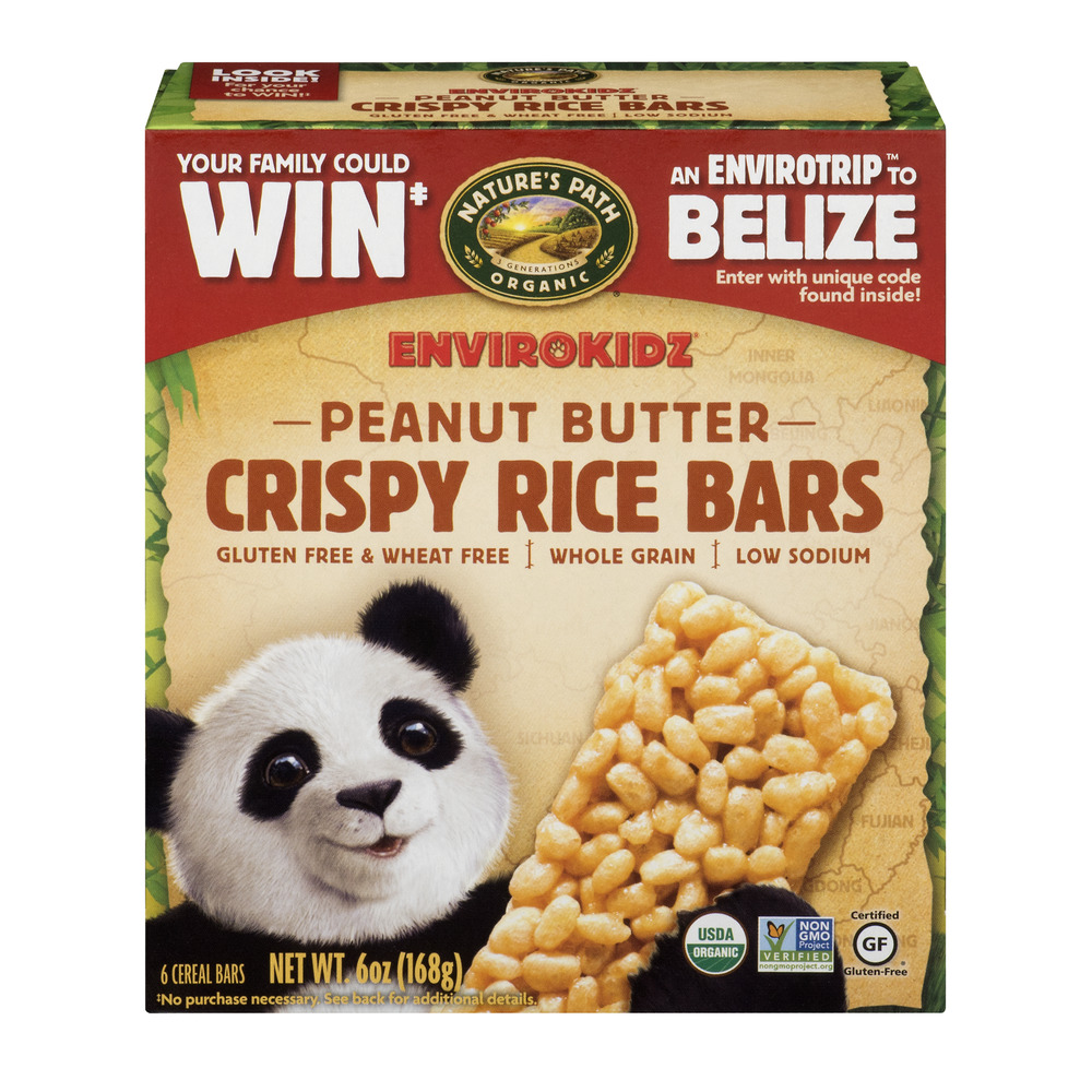 Nature's Path Organic Envirokidz Crispy Rice Bars Peanut Butter - 6 CT