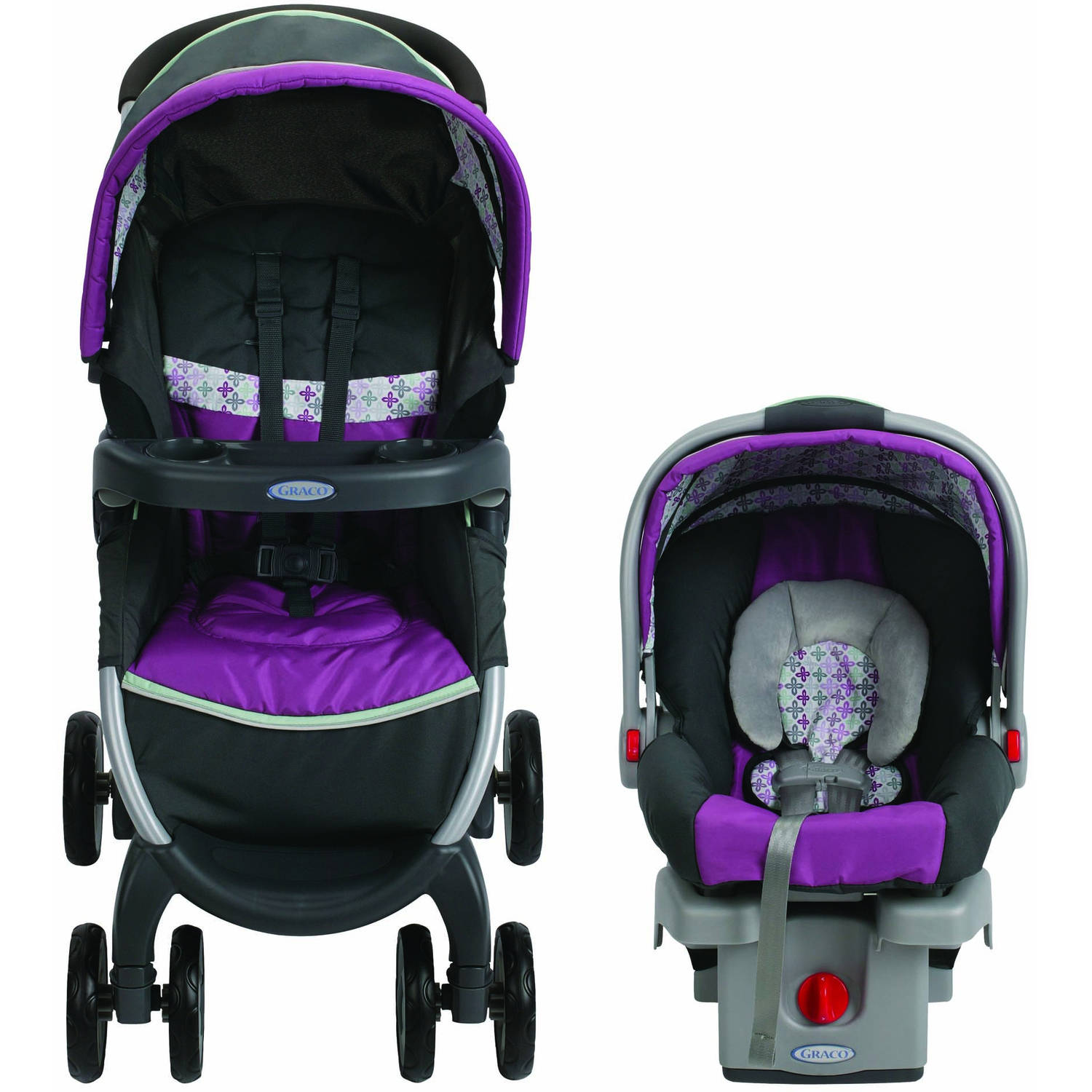 New Graco Fastaction Fold Click Travel System Car Seat Stroller
