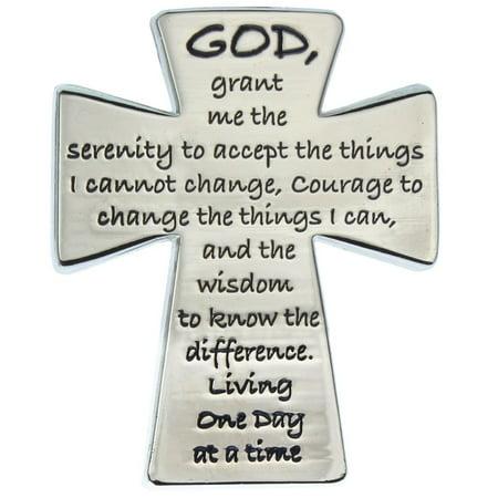 Serenity Prayer Visor Clip on Cross for Automobiles or Trucks Prayer Visor Clip