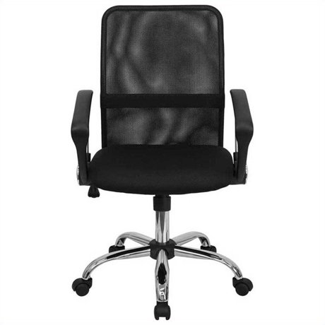 flash furniture mid back black mesh computer office chair with