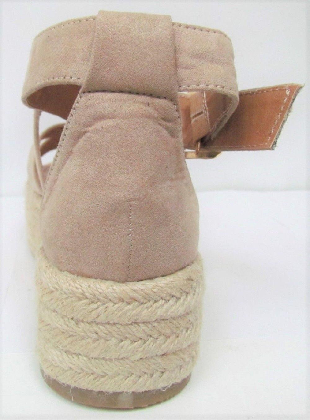 0f2568c9ccb Bonnible - Fatima-1 Espadrille Flatform Platform Strappy Gladiator Sandal  Nude - Walmart.com