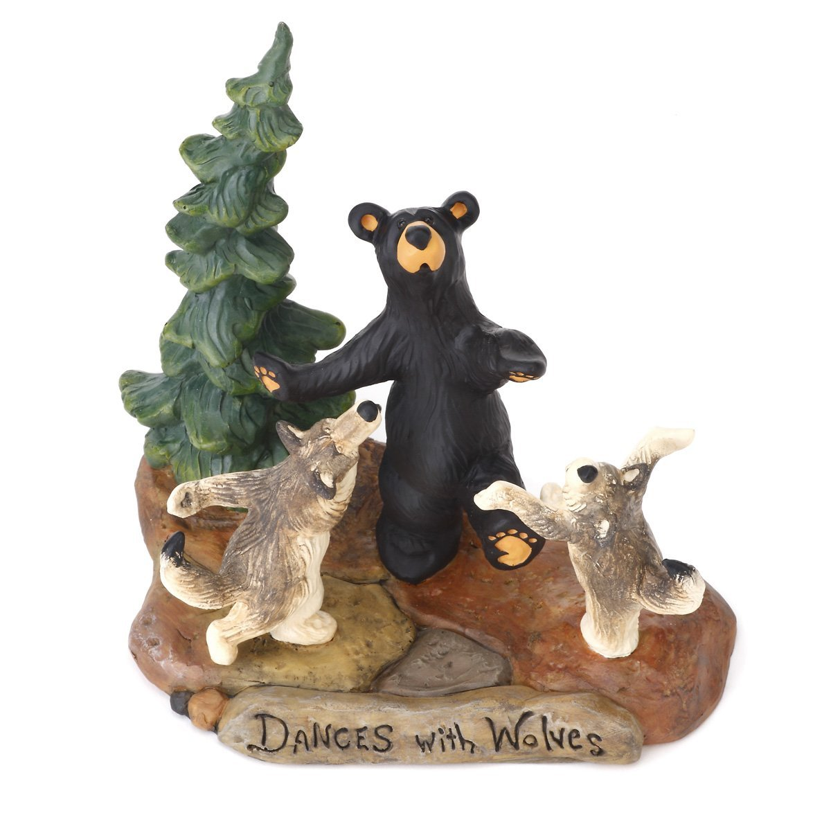 Carvers Dances with Wolves Figurine, From the Bearfoots Collection By Big Sky