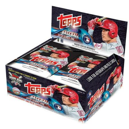 1980 Topps Baseball Card - 2018 Topps Baseball Series 1 Factory Sealed 24 Count Retail Display Box