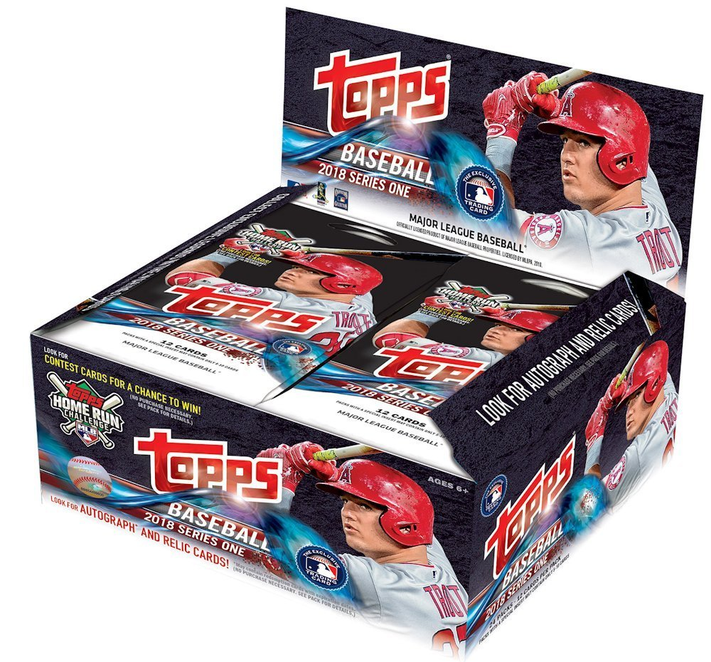 2018 Topps Baseball Series 1 Factory Sealed 24 Count Retail Display Box
