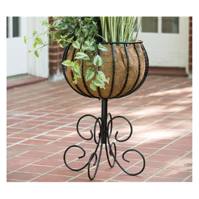 Gardman R11 R954 14 In. Steel Patio Urn With Coco Liner