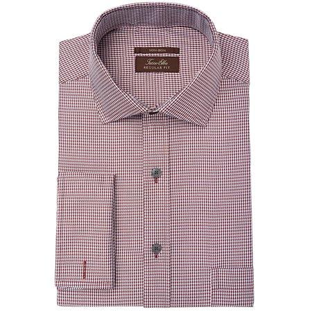 Mens Regular Fit Houndstooth Dress Shirt 16 1/2