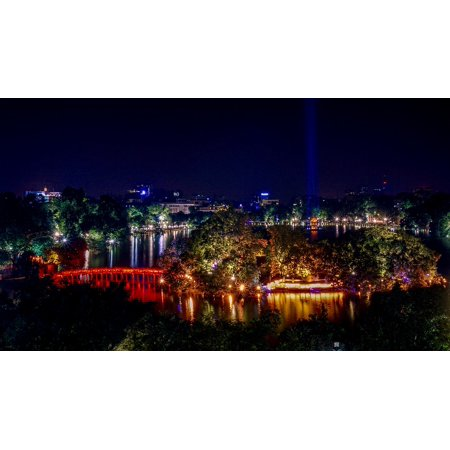 LAMINATED POSTER Reflection City Nature Night Blue Blue Hour Lake Poster Print 24 x 36](Party City Work Hours)