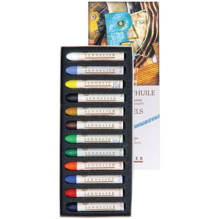 Sennelier Oil Pastel Set, 12-Colors