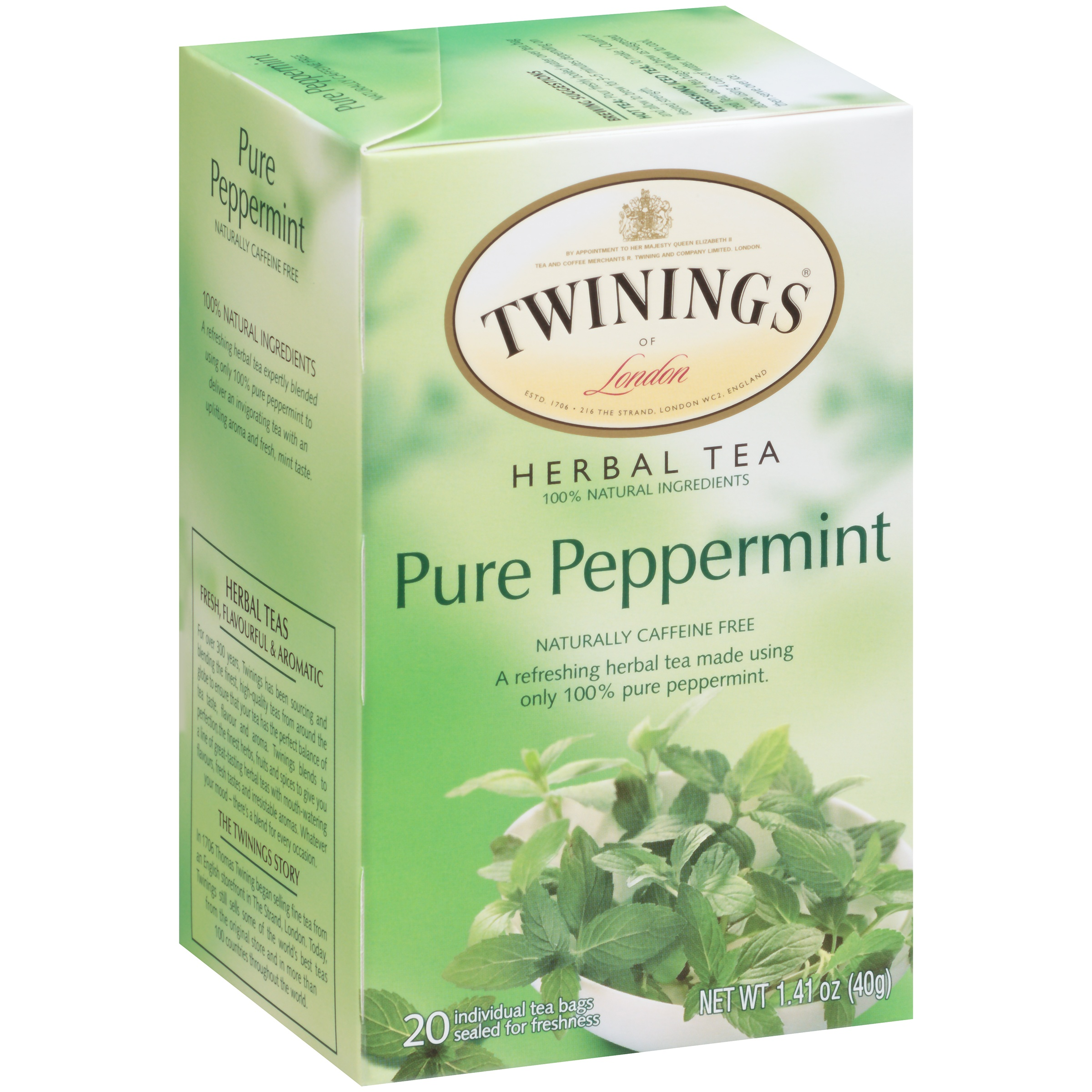 Twinings Of London Pure Peppermint Tea Bags, 20 Ct