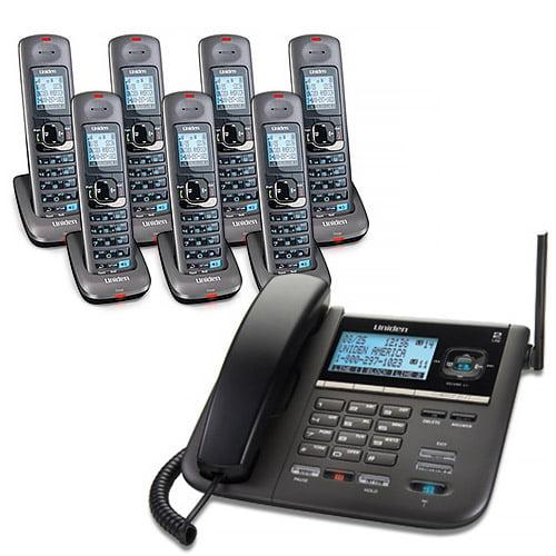 """""""Uniden DECT4096-7 2-Line DECT 6 Corded Cordless Phone"""" by Uniden"""
