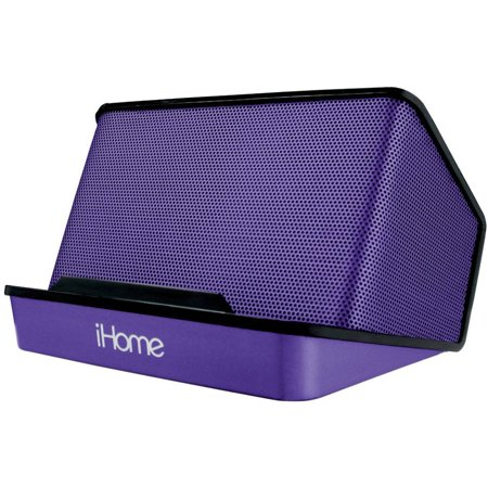 iHome iHM27 Portable Rechargeable Stereo Speaker, Purple