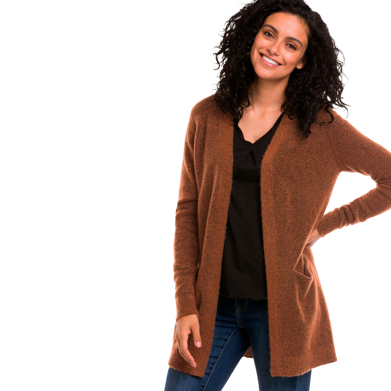 f4984786 Ellos - Plus Size Open Cardigan Sweater - Walmart.com
