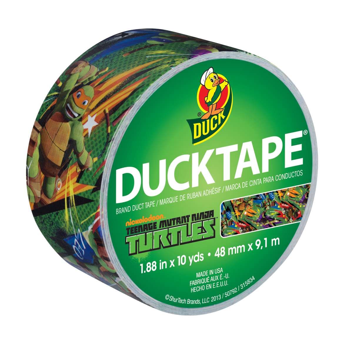 Duck Brand Duct Tape, 1.88 in. x 10 yds., Teenage Mutant Ninja Turtles