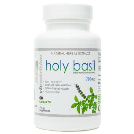 Holy Basil 60 Capsules (Holy Basil | 700mg Capsules | Ocimum tenuiflorum Extract | 30 Day)