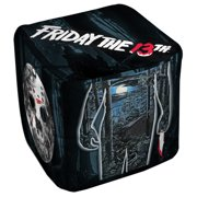 Friday The 13Th Poster Cube(Ottoman) White 18X18X18