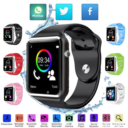 Magicfly A1 Smart Watch Bluetooth Waterproof Camera GSM SIM For Android IOS (Best Smartwatch With Sim 2019)