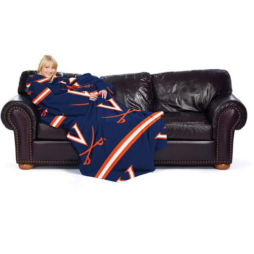 "NCAA Stripes Series 48"" x 71"" Comfy Throw, Virginia"