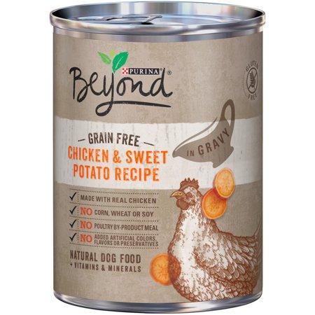 Creole Chicken Recipe - Purina Beyond Chicken & Sweet Potato Recipe in Gravy Grain-Free Wet Dog Food, 12.5-Oz, Case of 12