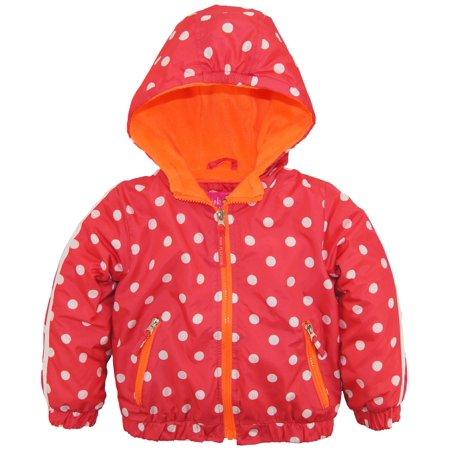 8822e32de8a3 Pink Platinum - Pink Platinum Little Girls Polka Dot Active Hooded ...
