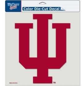 """Indiana Hoosiers Die-Cut Decal - 8""""x8"""" Color"""