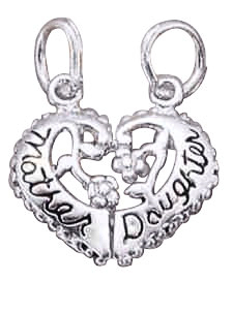 Sterling Silver Girls .8mm Box Chain 3D Celtic Triquetra Knot Heart Skeleton Key Pendant Necklace