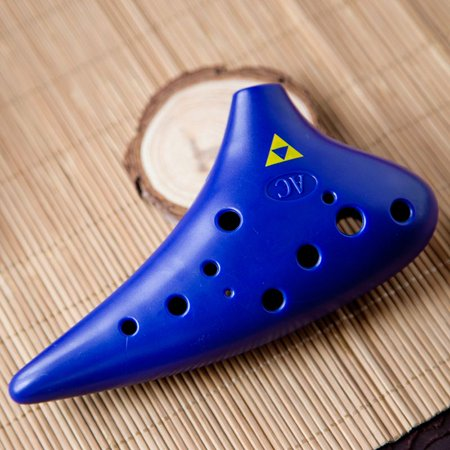 Abs Plastic Green - Ocarina Eco-friendly ABS Plastic 12 Holes Alto C Tone Musical Instrument For School Teaching, With Music Score Hanging String