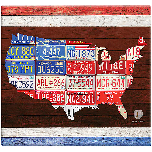 "American License Plate Post Bound Scrapbook, 12"" x 12"""