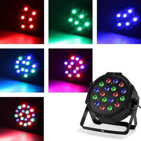 Zimtown 18LEDs Stage Light, Sound Control  DMX Stage Lighting, RGB Magic Effect Par Lights for Disco/ Clubs/ Bar/ Banquet/ Wedding/ Party - Halloween Sounds Effects