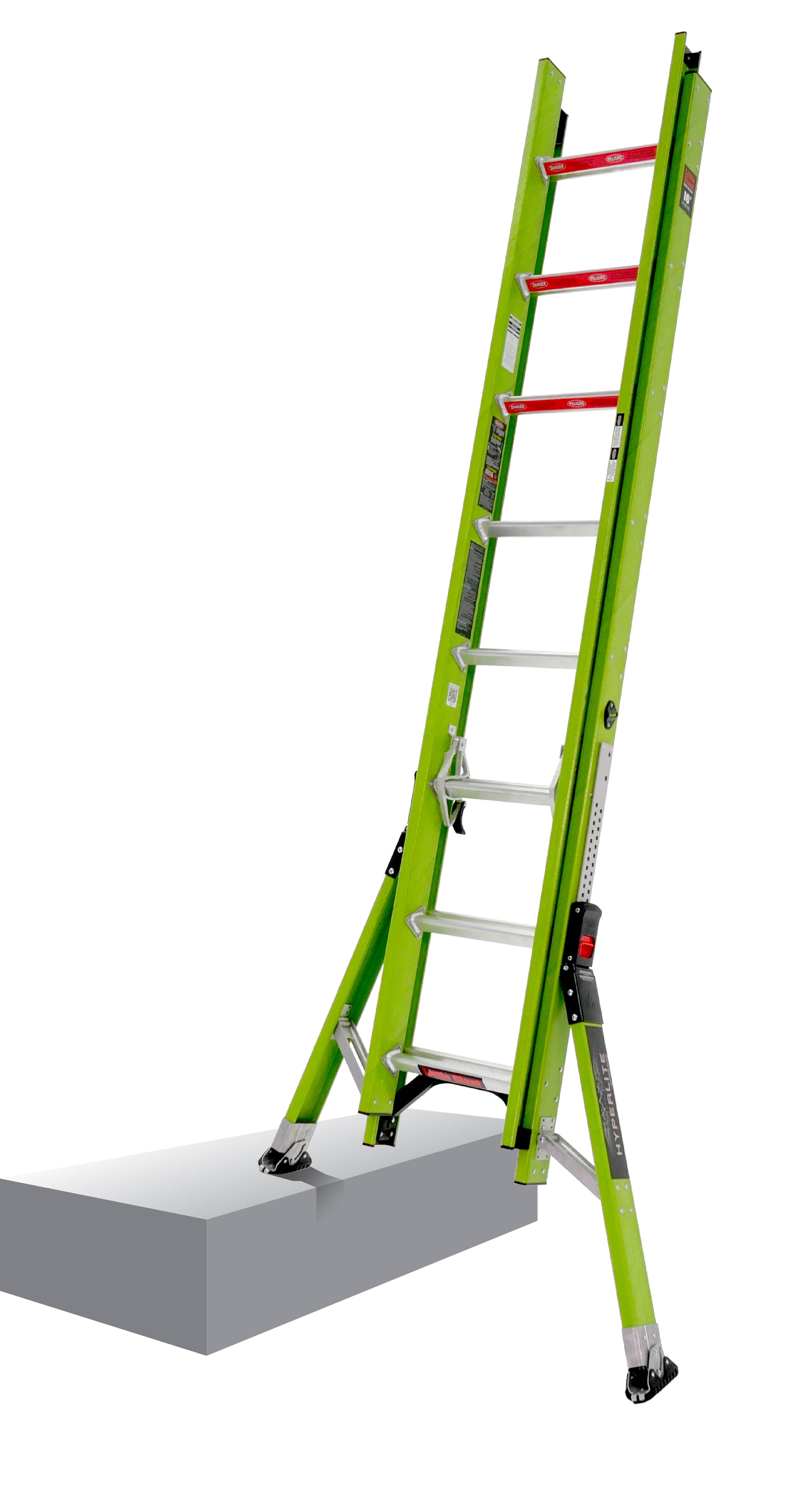 Little Giant HyperLite SumoStance, 16' Type IA 300 lbs rated, fiberglass extension ladder by Wing Enterprises, Inc.