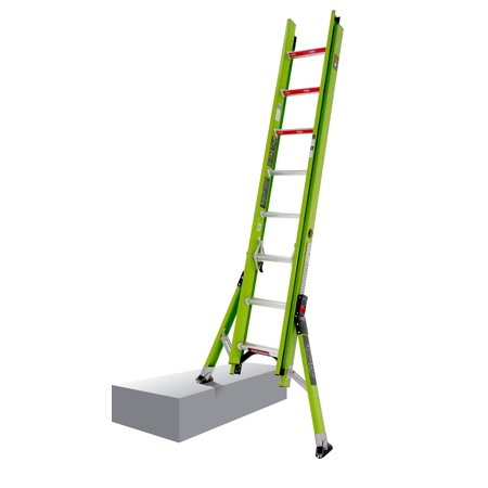 - Little Giant HyperLite SumoStance, 16' - Type IA - 300 lbs rated, fiberglass extension ladder
