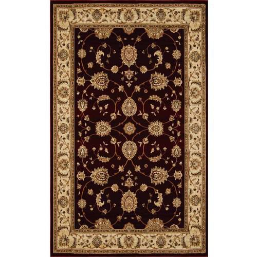Triumph Collection Traditional/Oriental Area Rug, Black and Beige