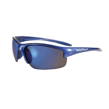 Jackson 3016311 KC 21301 Safety Glasses, Smith & Wesson Equalizer, Blue Frame, Blue Mirror Lens, 1 Pair, Quantity in Order: 1 By Smith And