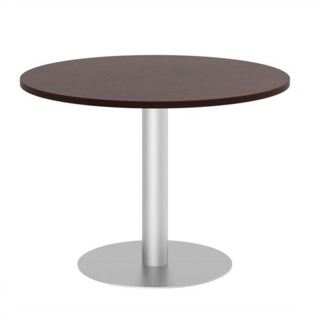 Bush Business Round Conference Table with Metal Disc Base in Cherry - image 7 de 7