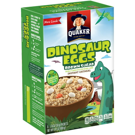Quaker Instant Oatmeal, Brown Sugar Dinosaur Eggs, 8 Packets - Dino Egg