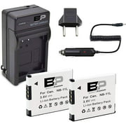 BP 2 Pack Replacement Battery & Charger NB-11L, NB-11LH Batteries for Canon PowerShot Elph Elph 180, Elph 190 is, Elph 320 HS, Elph 340 HS, Elph 350 HS, Elph 360 HS,SX410 is, SX420 is Digital Camera