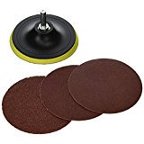 TruePower Hook & Loop Mount Drill Pad with 5 inch Sanding Disc and 3/8