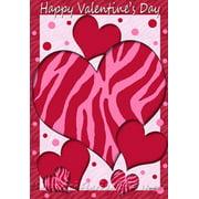 """Red Hot Valentine Heart Garden Flag Valentine's Day Love Yard Banner 12"""" x 18"""""""