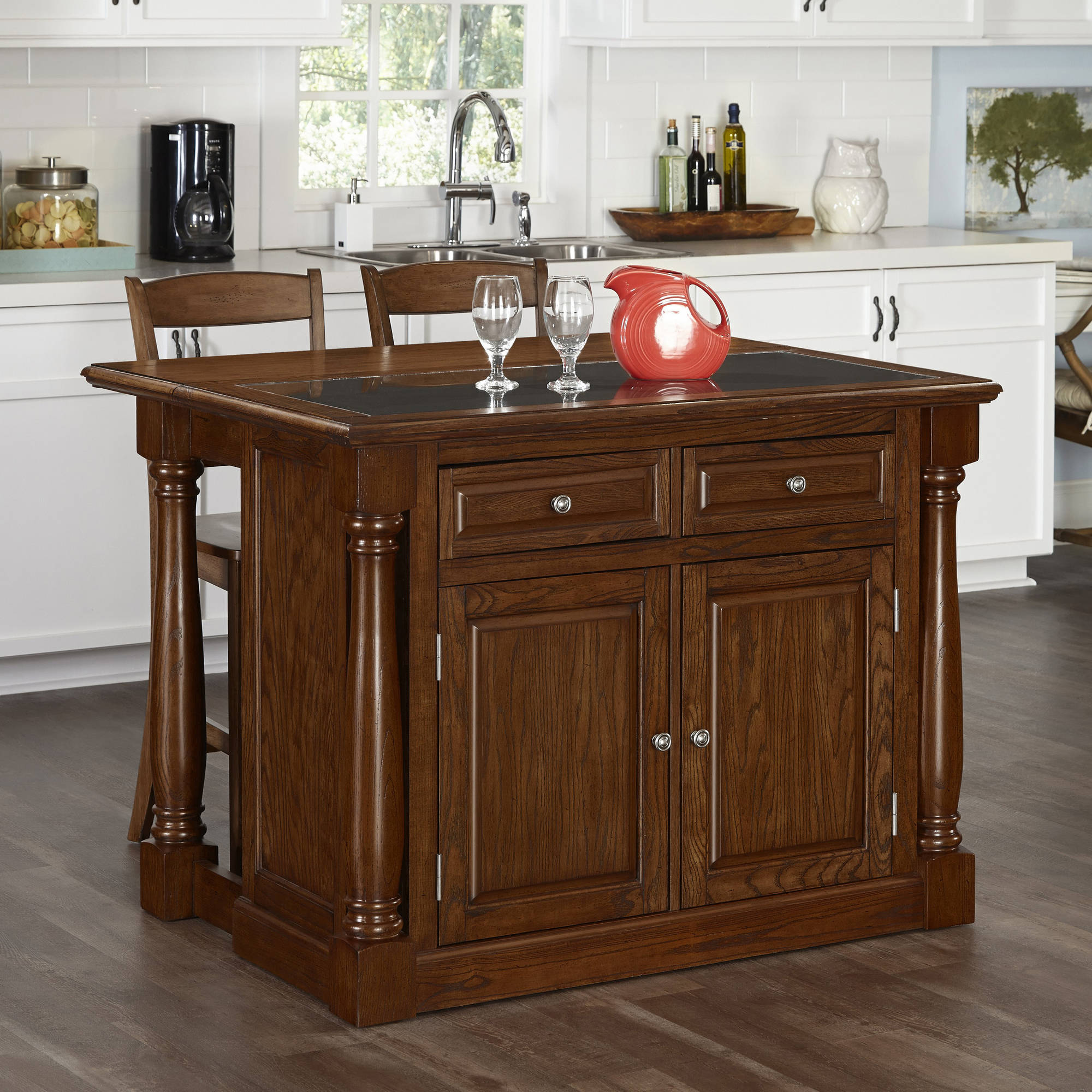 home styles monarch kitchen island home styles monarch oak kitchen island and 2 stools 24121