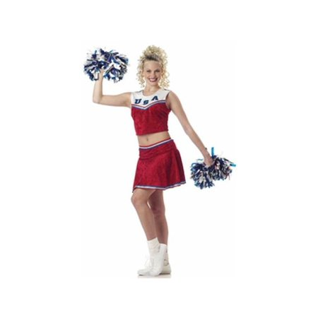 Adult Sleeveless Cheerleader Costume for $<!---->